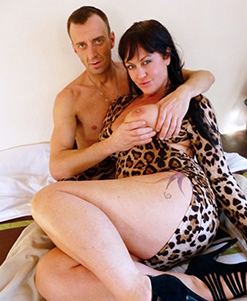 She had said she wanted to be a porn star! And now here she is turning up on my doorstep dressed in just a mink coat, heels, a fishnet all-in-one and fuck-my-mouth lipstick. I fuck her face hard and deepthroat her all the way, ram her without mercy, spank her a WHOLE lot more and — au naturellement! — pummel that gorgeous milfy pink cunt so it squirts and squirts again.