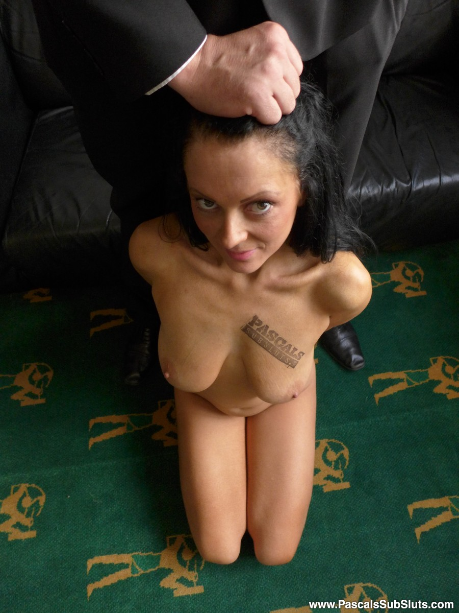 """SubSlut Jess Scotland presents you her tits and ass.""""Harder harder! Spit on me!"""" - but she just loves the way Pascal takes total control of her and rag-dolls her."""
