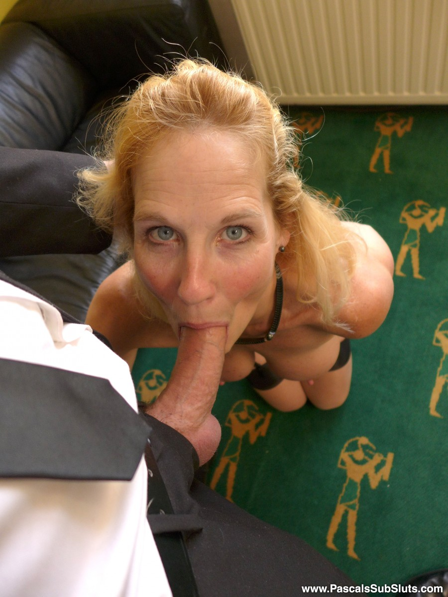 The slightest provocation and this 52-year-old cock hound will be down on her knees tugging lustily at your zipper. Dick-gobbling is her favorite recreation and one look at the way she works my truncheon in the scene will tell you she really knows what she